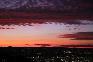 Abend über Stuttgart