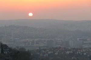 Abendlicht über Stuttgart,a