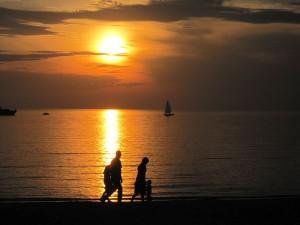 Familie am Strand Tallin -
