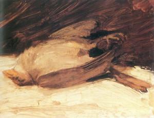 Franz_Marc,_Der_tote_Spatz,_1905