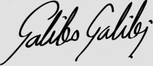 Signatur Galileo Galilei