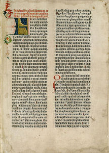 Blatt aus der Gutenbergbibel